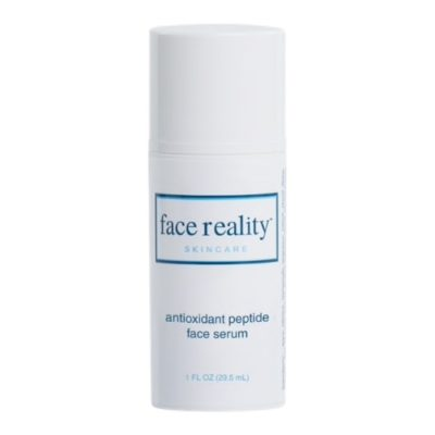 Face Reality Antioxidant Peptide Face Serum contains a potent blend of antioxidants and peptides that work together to improve the overall health of the skin.