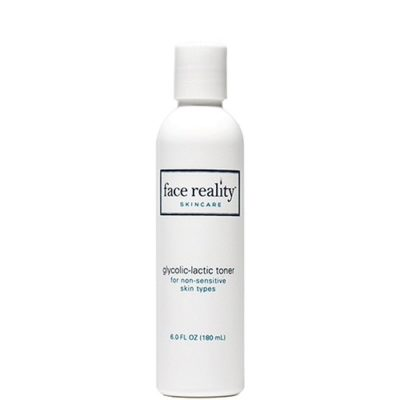 Glycolic Lactic Toner helps with exfoliation