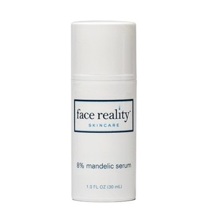 An alpha hydroxy acid serum that contains the chirally correct versions of L-Mandelic acid and L-Lactic acid for skin exfoliation.