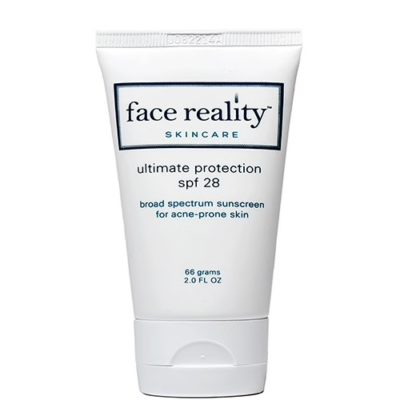 An acne-safe sunscreen that contains both provides broad spectrum coverage from harmful UVA and UVB rays.