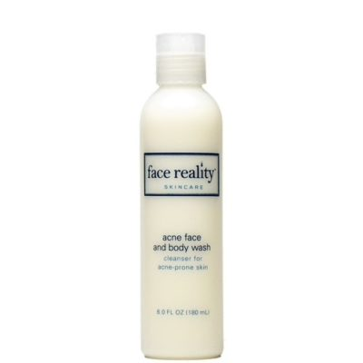 Acne Face and Body Wash is a powerful gel cleanser that contains 2.5% Benzoyl Peroxide.